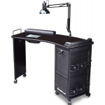 Dina Meri M601 Mambo Vented Nail Table Curved w/ Black Top + Free Shipping