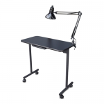 Salon Tuff ManiGo Portable Folding Manicure Table w/ Light in Black