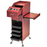 Pibbs PB25 Salon Styling Station In Cherry Wood Or Black