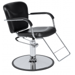 Christine SAV-004 Styling Chair w/ Round Base In Black