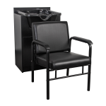 Salon Tuff Auto Recline Chair With Shampoo Bowl & Cabinet Package