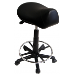 Kayline 812V All Purpose Hi-Rider Salon Saddle Stool with Foot Ring In 9 colors