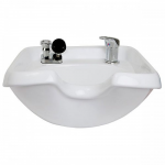 Kaemark KS-902 European Style Wall Mount Porcelain Shampoo Bowl In White