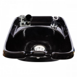 Kaemark KS-902 European Style Wall Mount Porcelain Shampoo Bowl In Black