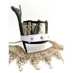 Salon Armor Metallic Gold & White Hair Stylist Upstyling Cuff