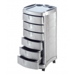 Pibbs 2006 Zorro Metallic Silver Salon Utility Cart