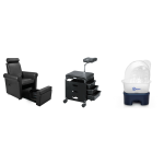 Bliss SAV-401 Pedicure Foot Spa Chair & SAV-566 Pedi-cart w/ Belava Message Unit