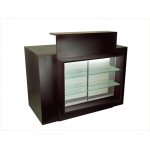 Louise SAV-425 Savvy Kaemark Reception Desk In Walnut or Black + Free Shipping!