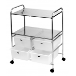 Pibbs D4W Salon & Spa Utility Cart In White + Free Shipping!