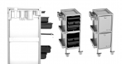 Salon  Carts, Trays, Trolleys & Rollabouts