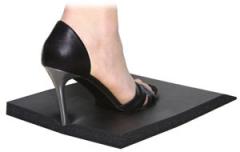 "23' x 4' x 3/4"" Kurative Anti-Fatigue Salon Mat Package in Black + Free Shipping"