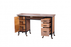Rustic Wood 469-MT-2-RW Kaemark Double Manicure Table + Free Shipping!