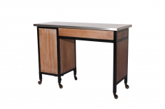 Rustic Wood 469-MT-2-RW Kaemark Single Manicure Table + Free Shipping