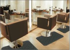 """Andersen Half Round 3' x 6' x 3/4"""" w/Depression Salon Décor Anti-Fatigue Salon, Barber, Spa Anti-fatigue Mat"""