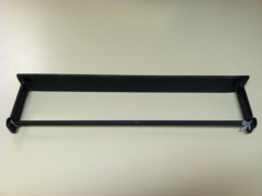 Heavy Gage Metal Wall Bracket for Roll of 500 Plastic Processing Bags.