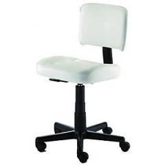 Kayline 803V Contoured Esthetician Chair w/ Back Rest In White + Free Shipping!