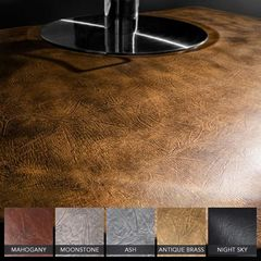 """Vintage Leather 4' x 5' x 3/4"""" Mahogany w/ Depression Luxe Vintage Dye-Washed Anti-Fatigue Mat + Free Shipping"""