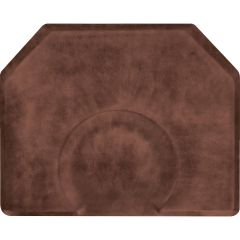 """Vintage Leather 4' x 5' x 3/4"""" Antique Light w/ Depression Luxe Vintage Dye-Washed Anti-Fatigue Mat + Free Shipping"""