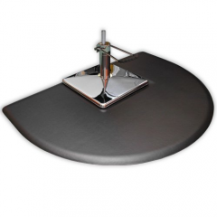 "3.5'D x 5W' x 5/8""T Half Round Salon Mat w/ Square Depression 3550CS"