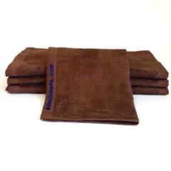 24 Brown Bleachsafe® 13 x 13 Salon & Spa Wash Cloths + Free Shipping