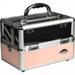 JustCaseBlack or Pink Clear Makeup Train Case