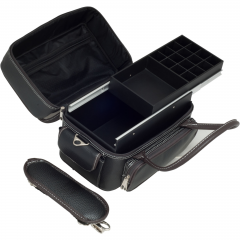 Sunrise Black Soft Leatherette Nail Tech / Artist Travel Case - C3027