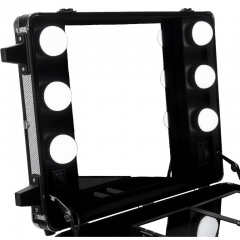 PRO LED Lighted Rolling Case with Mirror - Black Matte + Free Shipping