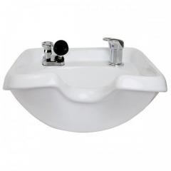 Kaemark KS-902 European Style Wall Mount Porcelain Shampoo Bowl In White