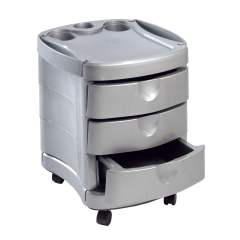 Pibbs 2042 Pedicure Utility Cart In Silver + Free Shipping!