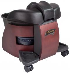 Continuum Pedicute Portable Pedicure Spa In Dark Walnut + FREE Cape Co Apron ($24 value)