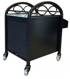 SALE - Continuum Infinity Salon & Spa Pedicure Accessory Cart In Black + Free Shipping