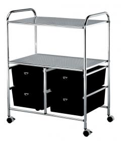 Pibbs D4W Salon & Spa Utility Cart In Black + Free Shipping!