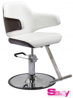 Danielle SAV-065 Savvy Kaemark Salon Styling Chair in White w/ Mocha or Black