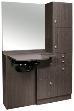 SALE - Ellipse EP-260-SQ Kaemark Salon Wet Station w/Mirror In 22 Colors + Free Shipping!