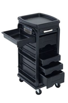 Kayline Designed G-2000 Lockable Roller Cart Trolley In Black + Free Shipping