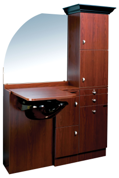 Ellipse EP-260-CR Kaemark Wet Salon Station w/Crown & Mirror In 22 Colors + Free Shipping!