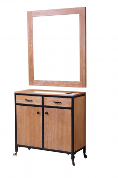 Rustic Wood 472-SS-RW Kaemark Styling Station + Free Shipping