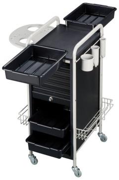 Lydia SAV-505 GRAY/BLACK Savvy Kaemark Roller Cart Trolley + Free Shipping