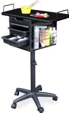 Dina Meri 2460 Robotop Wood Top Lockable Cart + Free Shipping