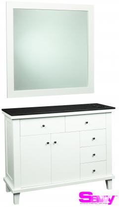 Benjamin SAV-402 6 Drawer Shaker Salon Styling Station & Mirror + Free Shipping!